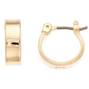 NWT Nine West huggie hoop earrings